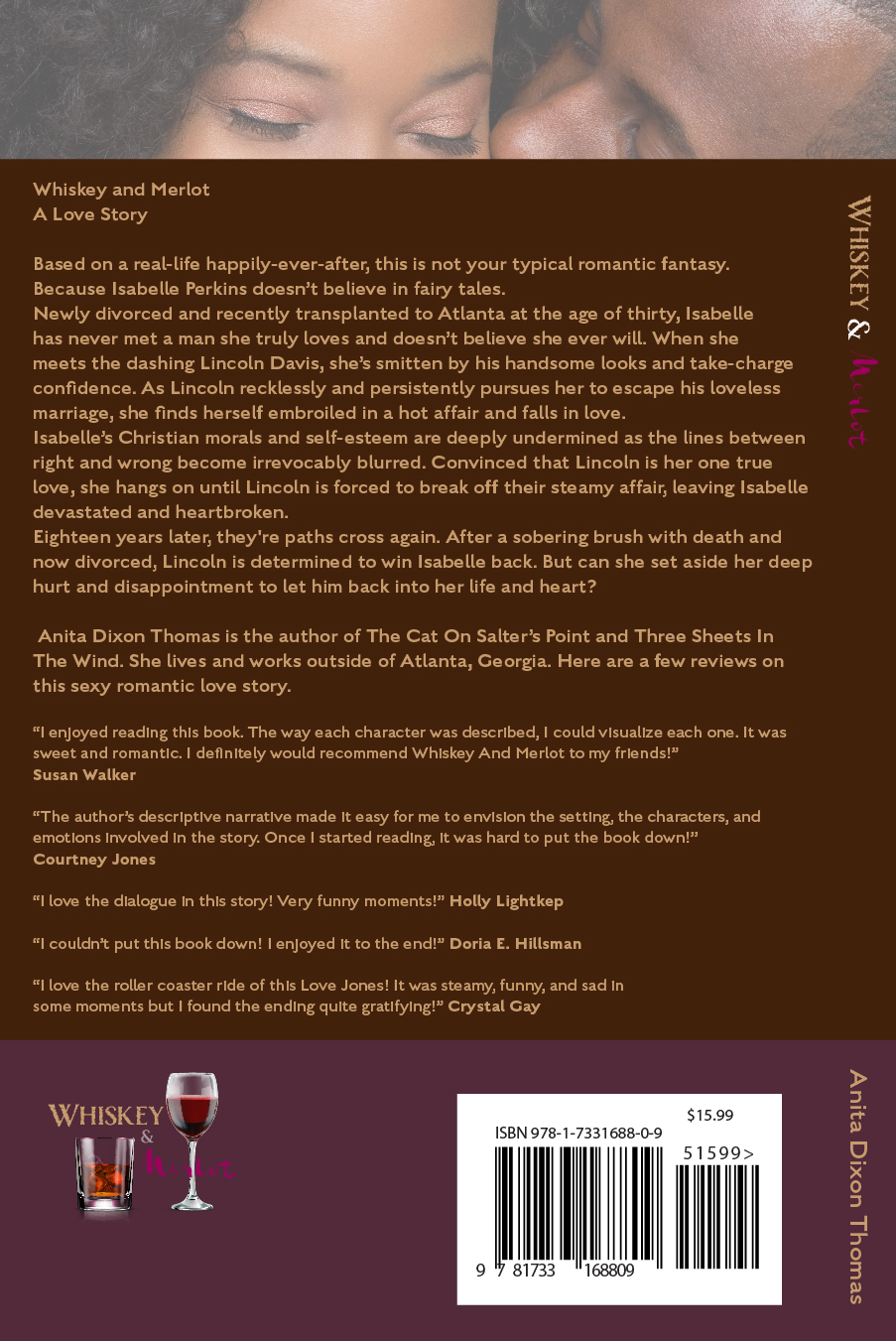 Reviews of Whiskey And Merlot On Back Cover